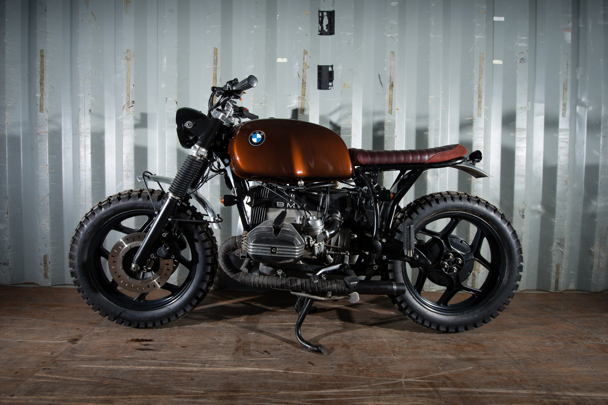 R80 scrambler by Barn Built Bikes